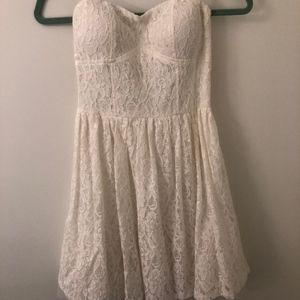 Worn once! White Delia's Strapless Dress